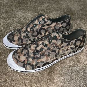 Coach Keeley Brown Slip On Sneakers Shoes
